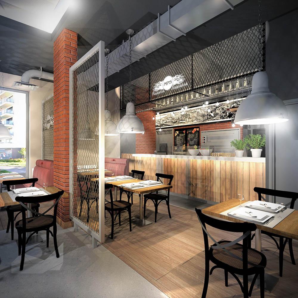 Визуализация проекта ресторана