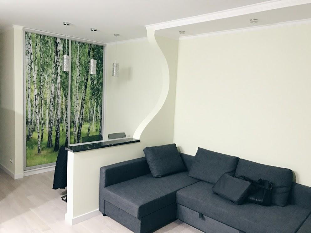 Фигурная стена (ремонт квартиры в варшаве)